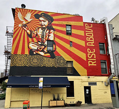 Rise Above by Obey (wiredforlego) Tags: graffiti mural streetart urbanart publicart aerosolart manhattan newyork nyc eastvillage obey obeygiant shepardfairey