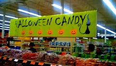 Trick or treat supplies - SS (Maenette1) Tags: trickortreet candy sign halloween jacksfreshmarket menominee uppermichigan signsunday flicker365 allthingsmichigan absolutemichigan projectmichigan