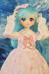 The new studio is coming soon ! (Real Salica) Tags: studio photography dollfiedream minidollfiedream msd mdd volks volksusa volksinc bluewig art pink excited happy vinyl 14scale 45cm doll japanese anime ooak
