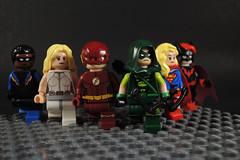 DC CW-verse (-Metarix-) Tags: lego super hero tv show dc cw comics comic arrow flash supergirl legends tomorrow black lightning batgirl green white canary