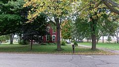 A House on Potter Street (joeldinda) Tags: driveway fields soybeans drive street house lawn village beans g9x 4246 october tree powershotg9xii canon mulliken 2018 michigan