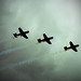 WWII fighter formation