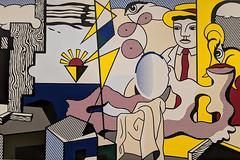 """""""Figures with Sunset"""", Roy Lichtenstein (1978) (Joey Hinton) Tags: sanfrancisco california unitedstates museum modern art roy lichtenstein google pixel2 andriod smartphone cellphone cameraphone phone"""