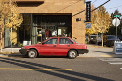 Toyota Corolla (Curtis Gregory Perry) Tags: portland oregon toyota corolla 1990 1991 1989 red sedan car japanese sellwood nikon d810 ibarre 13th tacoma automobile auto automóvil coche carro vehículo مركبة veículo fahrzeug automobil