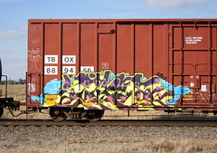 Tiket (quiet-silence) Tags: graffiti graff freight fr8 train railroad railcar art tiket etc boxcar tbox tbox889456