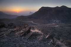 Jebel Shams - Oman (simonweb_photo) Tags: asia middle east oman desert mountains sunset canon nisi blending landscape no clouds red light sky rocks photography