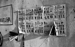 Cadeia Velha (Manuel Goncalves) Tags: santos brazil blackandwhite 35mmfilm texture street monochrome road nikonn90s rolleiretro400s epsonv500scanner