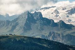 Marmolada from Pralongia (strachcall) Tags: sudtirol corvara dolomites landscape marmolada glacier sky mountains italy badia hills clouds dramatic altoadige
