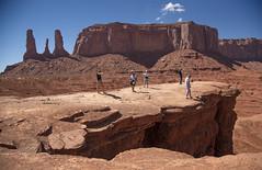 Too Close to Edge (Mr. History) Tags: monumentvalley monuments utah arizona usa threesisters
