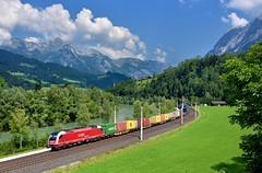 Salzburger Lokalbahnen 1216 940 Pfarrwerfen (tobias.unsin) Tags: railway rail railroad train zug güterzug alps austria sunshine summer 1216 bahn