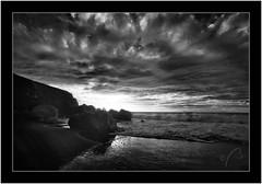 Beach Callejoncito, La Palma, Canary Islands, Infrared (Bartonio) Tags: canaryislands clouds garafía islascanarias lapalma naturaleza nature nikkor18mm35 nubes ocean seascape sonya7ir sunset