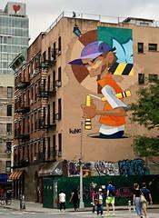 Overlords of Art by Kano Kid & Nick Walker (wiredforlego) Tags: graffiti mural streetart urbanart aerosolart publicart manhattan eastvillage newyork nyc nickwalker kanokid