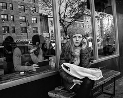 NYC, 2017 (Alan Barr) Tags: newyork newyorkcity nyc ny manhattan street sp streetphotography streetphoto blackandwhite bw mono monochrome candid city people panasonic lumix gx85 reflection reflections mirror mirrorimage