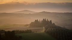 Sunrise in Tuscany (Jeremy Duguid) Tags: september tuscan tuscany travel nature landscape rural sunrise morning dawn farm farmhouse vineyards italian europe european mediterranean sony jeremy duguid