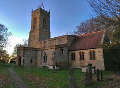 St Peter's Cogenhoe (jiffyhelper) Tags: apple iphone se church cogenhoe northamptonshire churchyard evening candle parish