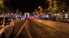 Champs Elysees, Paris (harvey.doane) Tags: franceparis canon6d nightshot citylights champselysees paris france people park avenue night trees buildings cobblestones busystreet