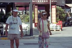 Travel In Style (the underlord) Tags: cavtat dalmatia croatia street couple travel nikonfe nikkorq135mmf28 kodakportra400 c41presskit travelling filmphotography streetphotography hrvatska