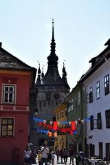 Sighişoara (Rumanía, 20-8-2018) (Juanje Orío) Tags: 2018 sighişoara rumanía românia transilvania patrimoniodelahumanidad worldheritage torre tower bandera flag reloj clock