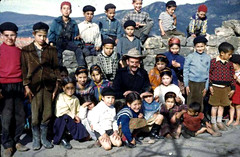 In the open (theirhistory) Tags: boys children kids girls school class pupils form group jacket shirt wellies trousers shorts hat shoes rubberboots