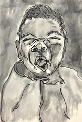 Inktober 02/31 (opal c) Tags: ink pen baby wash portrait