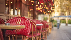Brasserie Renaissance - Paris (Caropaulus) Tags: paris terrasse lights bokeh blur minolta rokkor alpha7 france chair