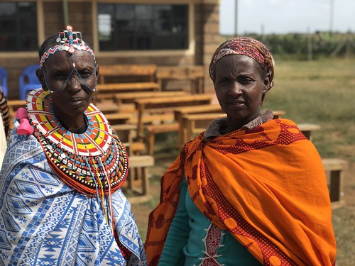 Samburu (left) and Pokot (right) mothers who will share together a Heifer for Peace