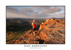 Bushwalking the Blue Mountains (sugarbellaleah) Tags: bushwalking hiking woman female girl wilderness mountains bluemountains rock cliffs clouds afternoon fun recreation leisure fitness wanderer high views outlook hat backpack adventure travel tourism vacation holiday getaway exploring scenic scenery standing awe magnificent nature outdoor active wellbeing healthylife lifestyle