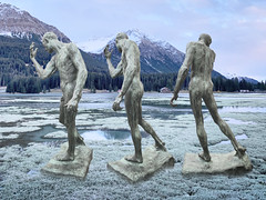 variations of noble despair (MarkusBaumgartner) Tags: sculpture collage heidsee rodin pierre de wissant