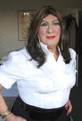 Collblaskrtclo (fionaxxcd) Tags: crossdresser crossdressing m2f mtf transvestite trannie tranny ladyboy bust nipples rednails breast bangles
