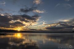 Sunstar at Sunset (BobbyFerkovich) Tags: bristolsunsetrentonwashingtonlakewashington water clouds seattle sonya7riii sky