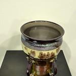 Large Mouth Jar, Raku & Glaze by Leroy Von Glan thumbnail