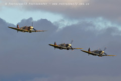 7454 Spitfires (photozone72) Tags: duxford iwmduxford warbirds wwii spitfire canon canon7dmk2 canon100400f4556lii 7dmk2 airshows aircraft airshow