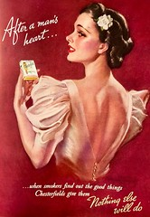 """""""After a Man's Heart"""" (saltycotton) Tags: smoking cigarettes chesterfield glamour betterhomesgardens vintage magazine advertisement ad 1937 1930s"""