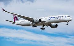 """Airbus A350-1000 Qatar Airways """"One World"""" A7-ANE (French_Painter) Tags: fwznk msn 141 airbus a3501000 qatar airways oneworld a7ane"""
