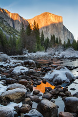 Valley View Winter Sunset (Chris Skopec) Tags: california nationalparks sierranevadamountains sierras usa valleyview yosemite yosemitenationalpark yosemitevalley landscapephotography landscapes mountains scenic travel winter