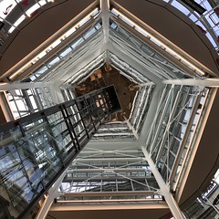 Looking Up - Amsterdam - Holland - October 2018 (firehouse.ie) Tags: netherlands holland shape pentagon glass tower modern building buildings amsterdam architecture