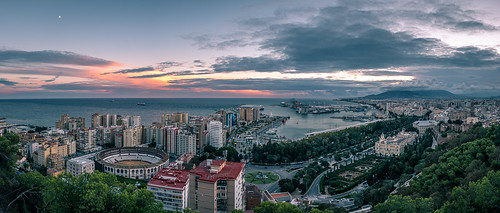 Sunset in Malaga - Andalucia, Spain - Cityscape photography