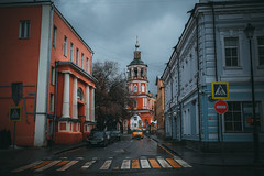DSCF8262 (olegmescheryakov) Tags: москва россия ru keywords city × cityscape urban town street church crossroads road car sky skyline clouds cloudscape rain shadow building historic orthodox monastery mansion tower clock downtown old architecture historical storm autumn fall view