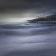 Helter Skelter (www.neilburnell.com) Tags: movement sea seascape pier icm multiexposure