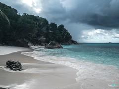 Anse Patates ... La Digue (capellini.chiara) Tags: flickrsbest flickrtravelaward paradise landscape natura naturephotography clouds africa beach palmtree ocean seychelles ladigue ansepatates