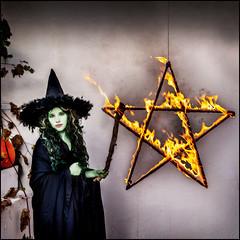 Lighting Of The Petagram (Rodrick Dale) Tags: lighting of the petagram witch halloween fire
