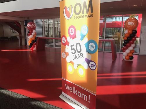 Ballonpilaar Breed Rond 50 Jaar Penta College Oude Maas Spijkenisse