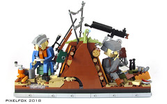 Letters to loved ones (Pixel Fox) Tags: lego diorama vignette world war ww1 trench