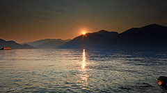 Sunset at Porteau cove, West Vancouver, Canada (Red Not Rab) Tags: sunset mouintains sea porteaucove canada landscape nature atmospheric