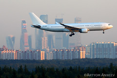 Moscow city (Artyom Anikeev) Tags: avia aviation airplane artyomanikeev anikeev airliner planespotting plane spotting canon nordwind airlines airbus a330 moscow city skycrapers