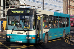 4505 V505 DFT (Cumberland Patriot) Tags: arriva northumbria north east eastern england newcastle upon tyne volvo b10ble wright wrightbus renown 4505 v505dft low floor single deck saloon bus derv diesel engine road vehicle public transport haymarket service route 45 blyth northumberland