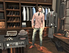 Shopping (ᗷOOᑎᕮ ᗷᒪᗩᑎᑕO) Tags: secondlife sl fashion trend trending trendy retro vintage suits you sir davidheather dh deadwool ascend doux catwa applefall london belgravia flickr style classic man borough westminster kensington chelsea fashionnatic