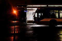 911 (Jacques Lebleu) Tags: hps metro publictransit station bus driver 911 fence shadow