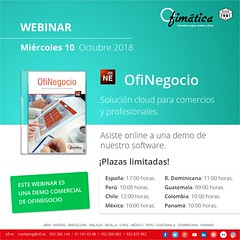 OfiNegocio webinar - oct18_10 (ofisoftware) Tags: software nube cloud gestion empresas autónomos ofinegocio webinar octubre