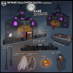 Since1975- Halloween Beware Gacha ([ Since 1975 ]) Tags: since 1975 mesh halloween 2018 grave graveyard rip tomb pumpkin beware gacha home suicide rope ghost sarcophagus